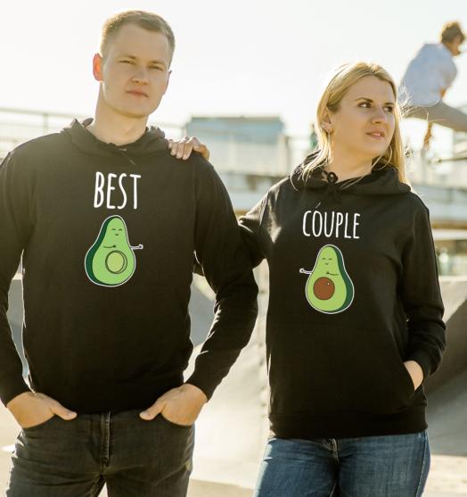 Couple hoodies design Avocado