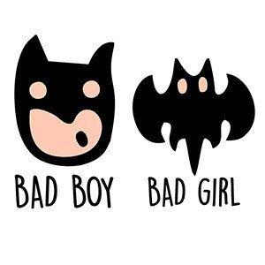 Couple hoodies Bad boy bad girl