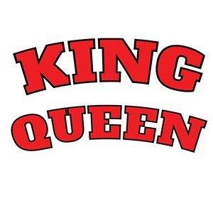 Couple hoodies King queen vintage