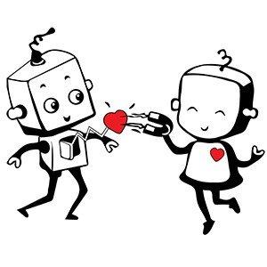 Couple hoodies Robot couple
