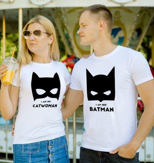 Couple shirts Batman and Catwoman