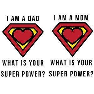 Couple shirts Super power