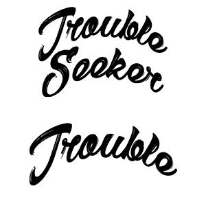 Couple shirts Trouble seeker