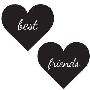 Friends hoodie Best friends in the heart