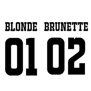 Friends hoodie Blonde brunette numbers