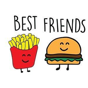 Friends hoodie Burger and fries