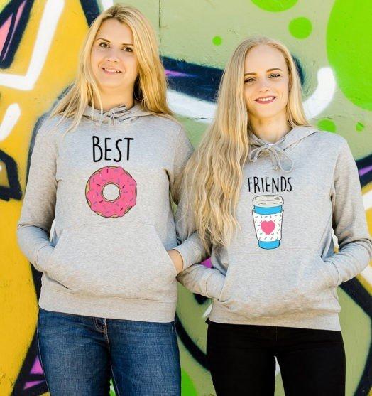 Friends hoodie Doughnut and coffee