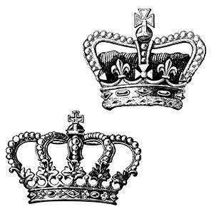 Couple hoodies Crown king queen