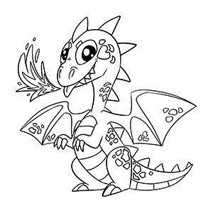 Kids coloring t shirts Dragon