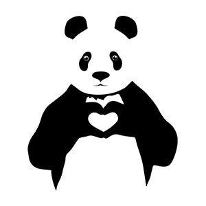 Couple graphic tees Panda
