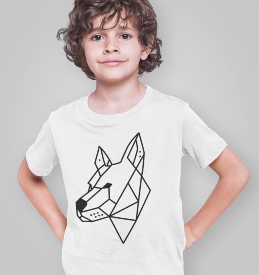 Kids coloring t shirts Color dog