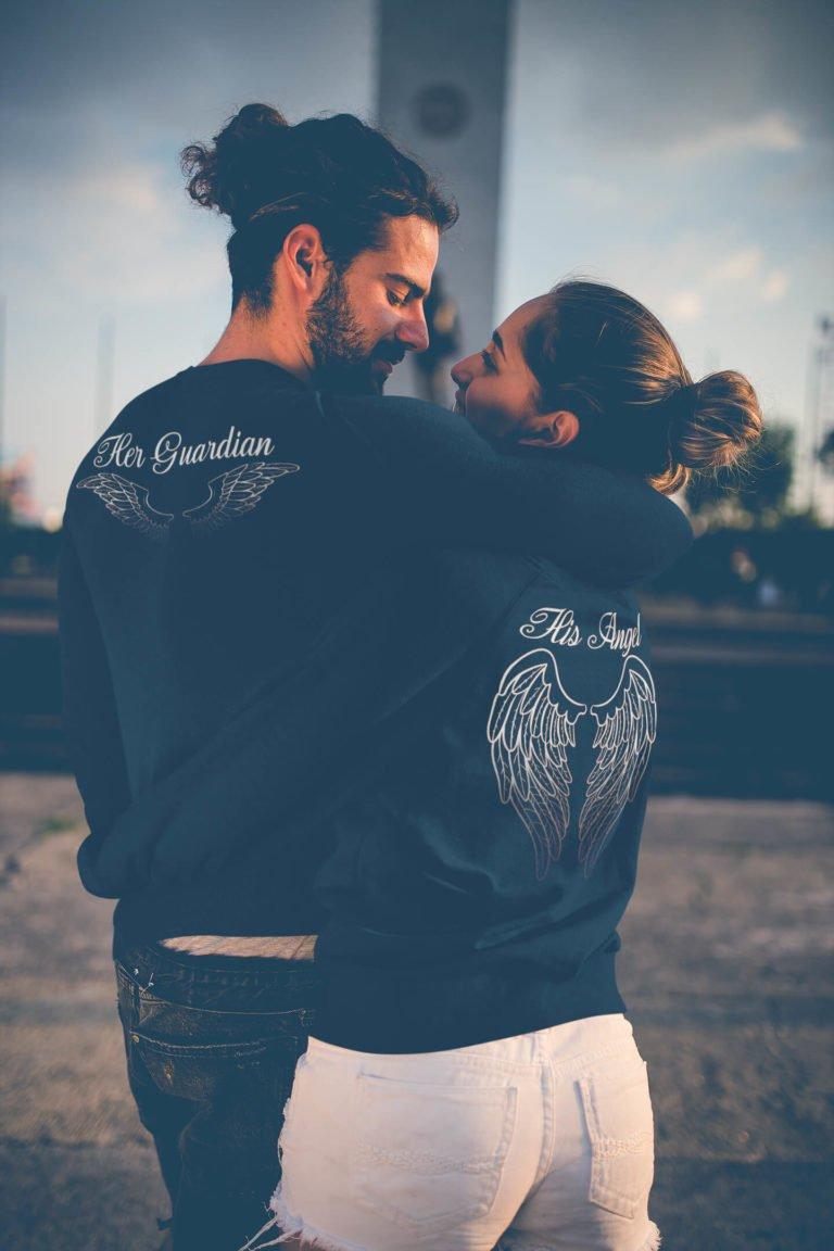 Couple sweatshirts Angel