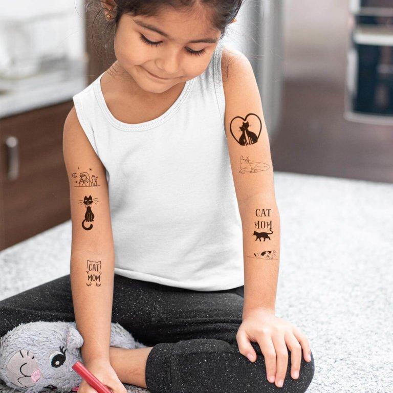 Kids temporary tattoo Cat