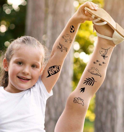 Kids temporary tattoo Dinosaurs