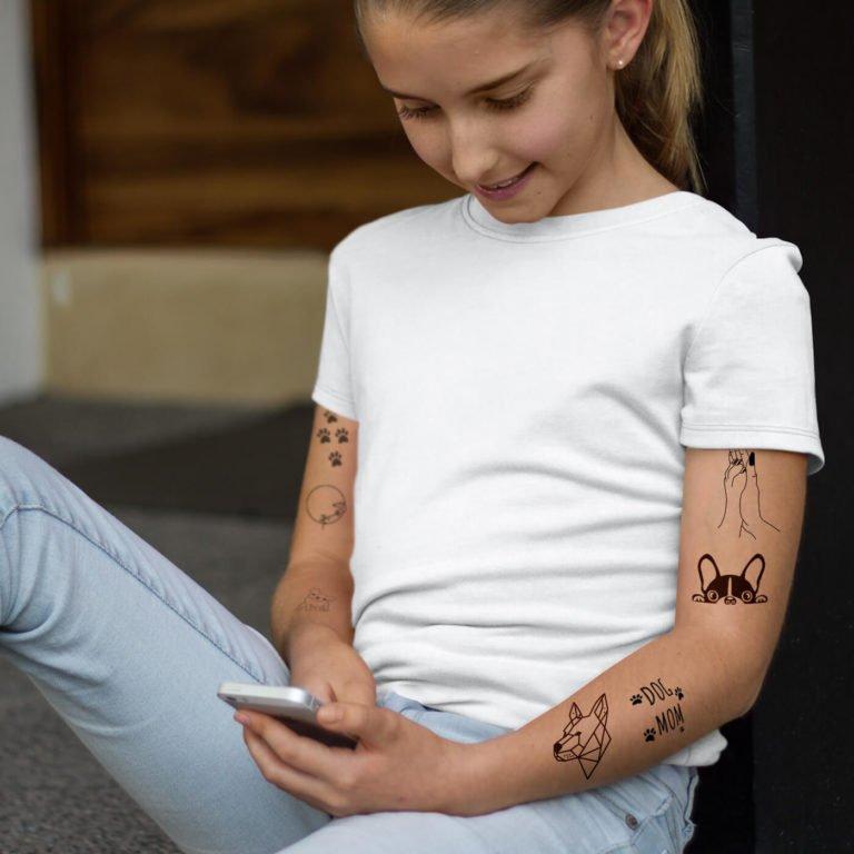 Kids temporary tattoo Dog