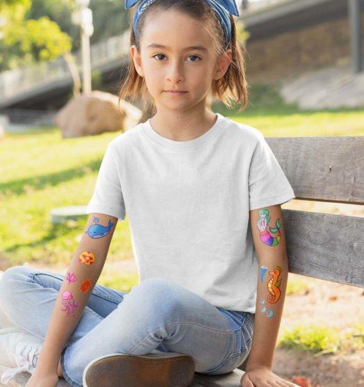 Kids temporary tattoo Marmaid