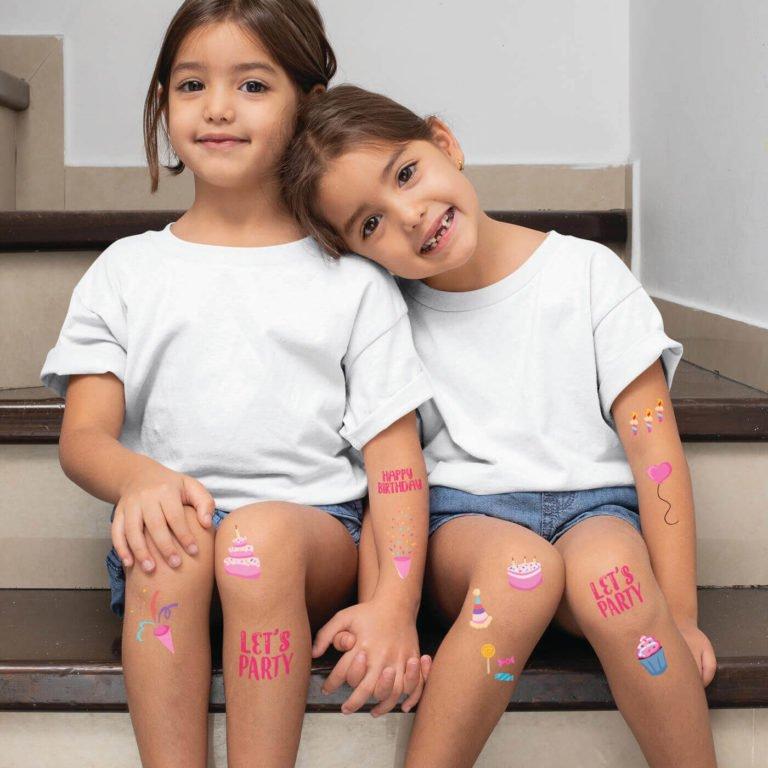 Kids temporary tattoo Birthday girl