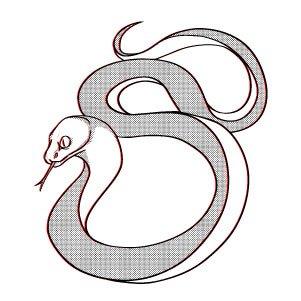 Kids temporary tattoo Snake