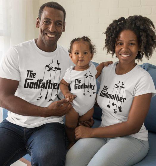White shorts sleeve family graphic t shirts