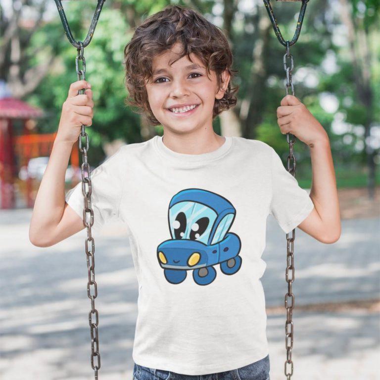 Kids graphic tees boy love cars