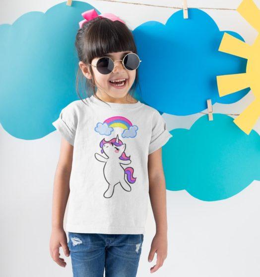 Kids graphic tees unicorn rainbow