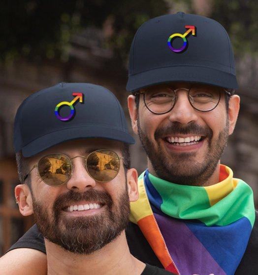 Same sex caps Men sign