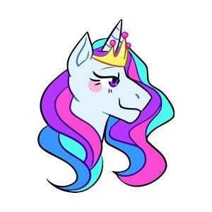 Kids graphic tees princess unicorn