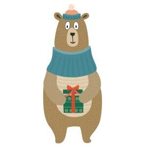 Men graphic tees Christmas bear