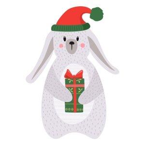 Men graphic tees Christmas rabbit