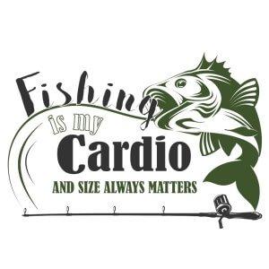 Men graphic tees Fishing is my cardio