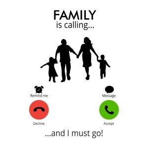 Men sweatshirts Family calling
