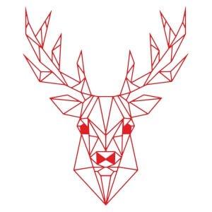Short sleeve graphic women t shirt for christmas Red Christmas deer