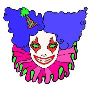 Short sleeve women t shirts Mrs Clown