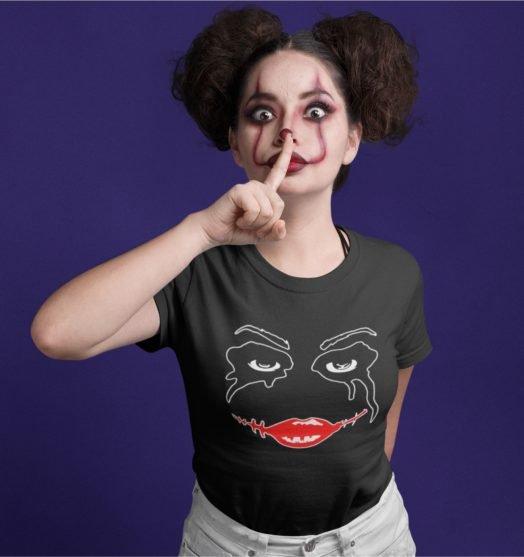 Short sleeve women t shirts Harley mask