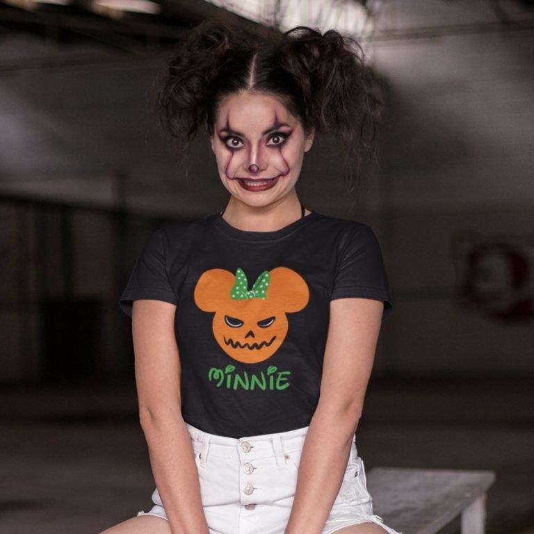 Short sleeve women t shirts Halloween minnie
