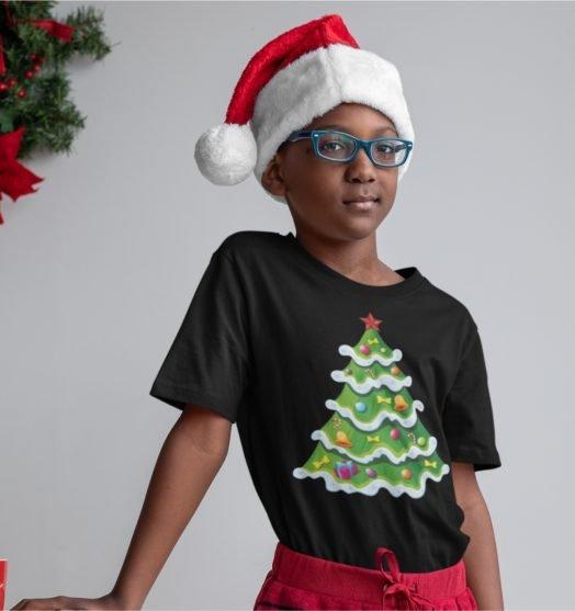Short sleeve kids Christmas t shirts My Christmas tree