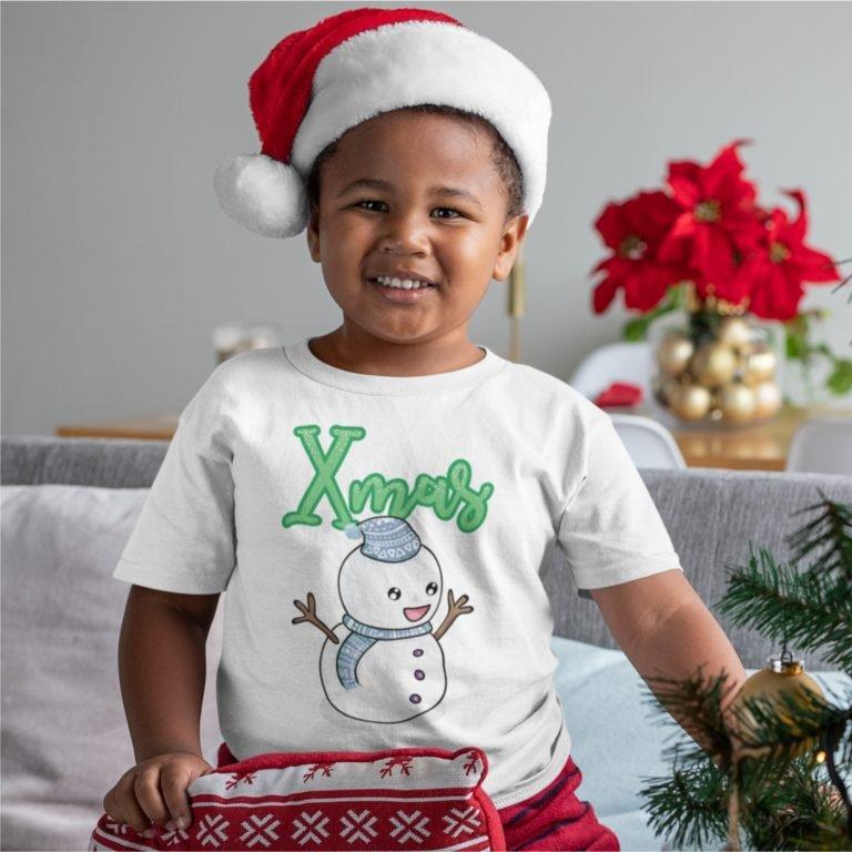 Short sleeve white Christmas t shirts Xmas