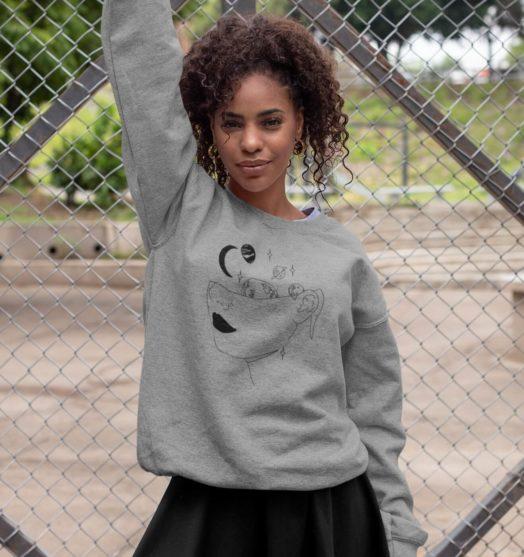 Long sleeve women sweatshirts with print Cosmos