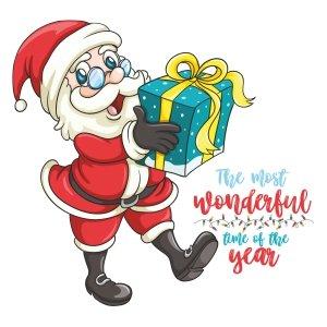 Short sleeve kids Christmas t shirts Wonderful time