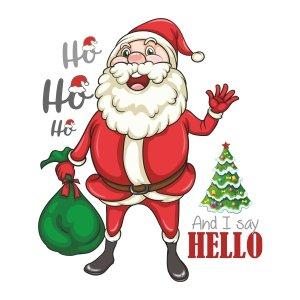 Short sleeve kids Christmas t shirts Ho Ho Ho