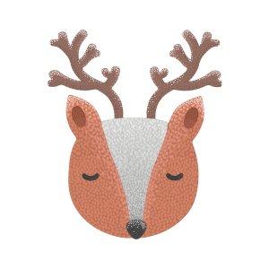 Short sleeve kids Christmas t shirts Little deer boy