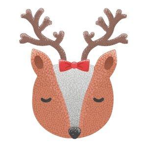 Short sleeve kids Christmas t shirts Little deer girl