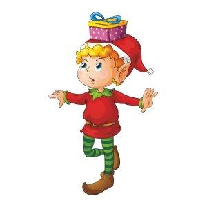 Short sleeve kids Christmas t shirts Little elf boy