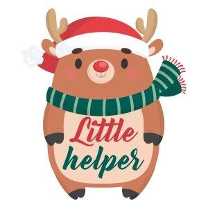 Short sleeve kids Christmas t shirts Little helper
