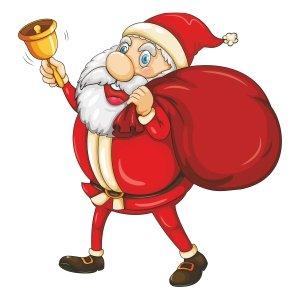 Short sleeve kids Christmas t shirts Ringing bell
