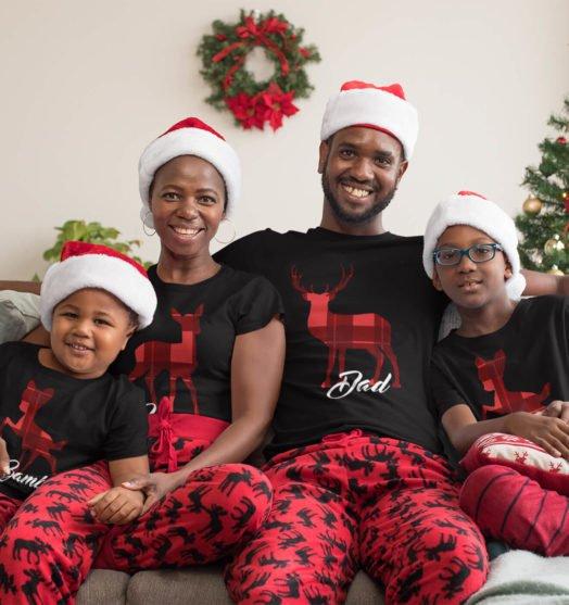 Black short sleeve family t shirts Bamby
