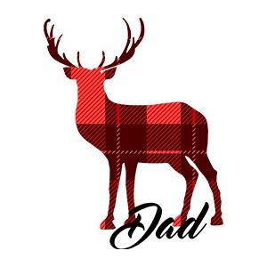Design for man t shirts Dad deer