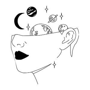women graphic cap Cosmos