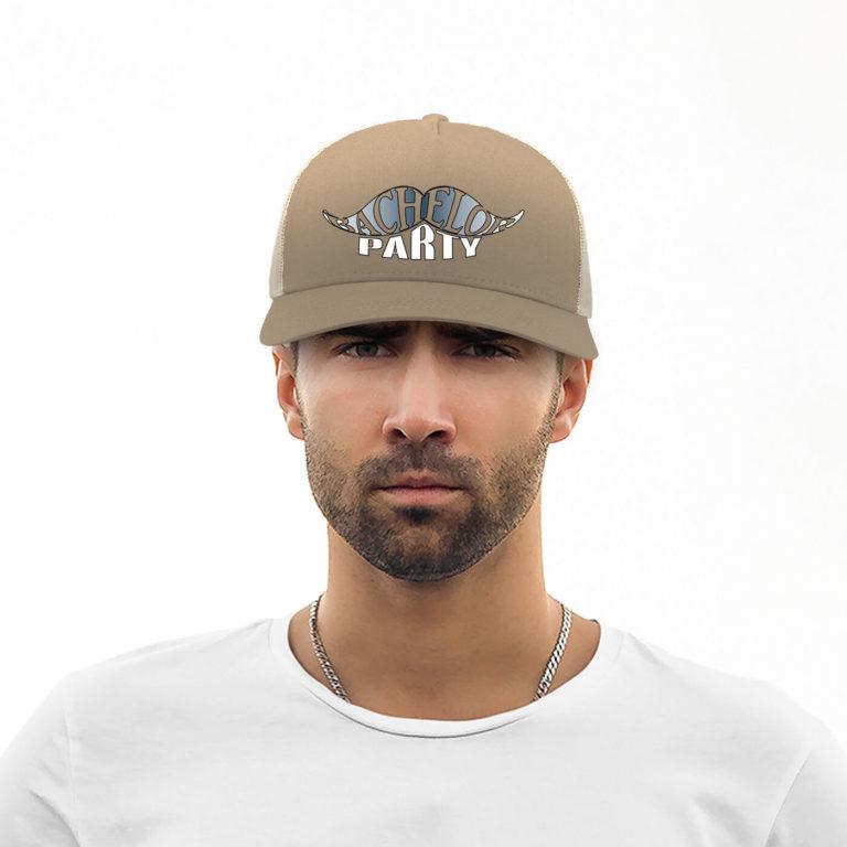 Khaki unisex rapper graphic cap Bachelor party