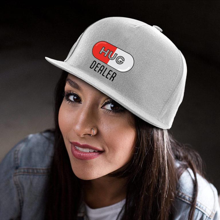 White women graphic cap Hug dealer